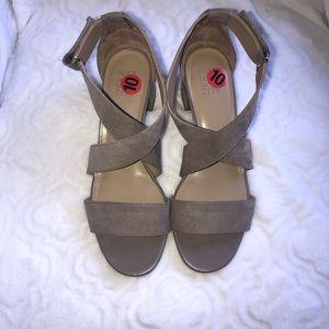 Shoes - Tan Suede Sandals
